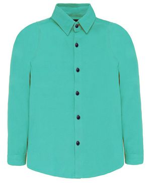 Nick&Jess Solid Full Sleeves Shirt - Sea Green