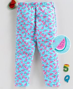 Babyhug Full Length Leggings Watermelon Print - Blue