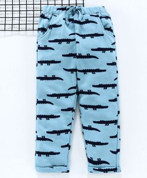 Yiyi Garden Full Length Lounge Pant Alligator Print - Blue