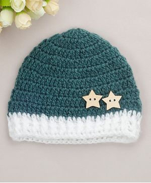 Buttercup from KnittingNani Stars Detailed Cap - Pine Green
