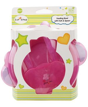 1st Step Feeding Bowl With Fork And Spoon (Color May Vary)