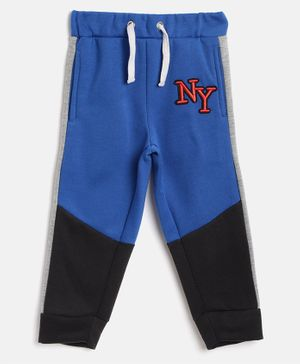 Little Marine NY Embroidered Full Length Lounge Pants - Blue