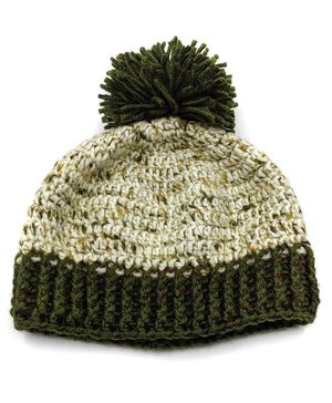 Magic Needles Pom Pom Detailed Cap - Green