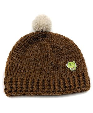 Magic Needles Cat Detailed Cap - Brown