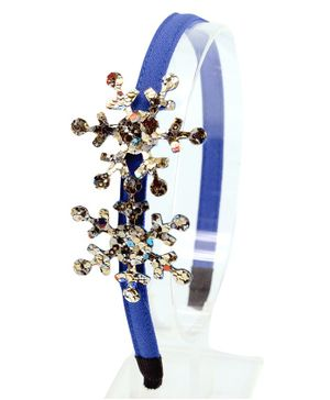 Aye Candy Snowflake Design Hair Band - Blue