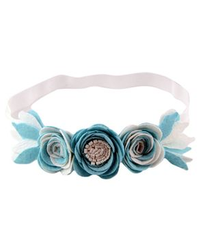 Aye Candy Flowers Design Headband - Blue