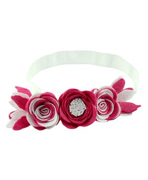 Aye Candy Flowers Design Headband - Pink