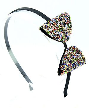 Aye Candy Sprinkles Bow Hair Band - Black