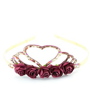 Aye Candy Rose Flower Detailed Hair Band - Multi Color