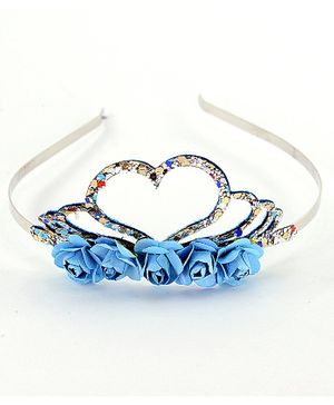 Aye Candy Row Of Flowers Heart Hair Band - Multi Color