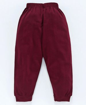 Fido Full Length Solid Colour Lounge Pant - Maroon
