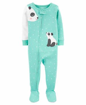 Carter's 1-Piece 100% Snug Fit Cotton Footie PJs - Blue