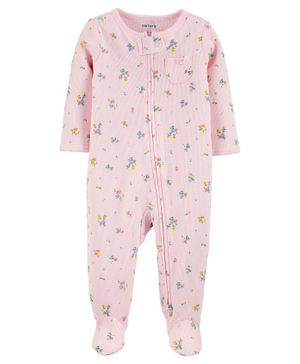 Carter's Floral 2-Way Zip Thermal Sleepsuit - Pink