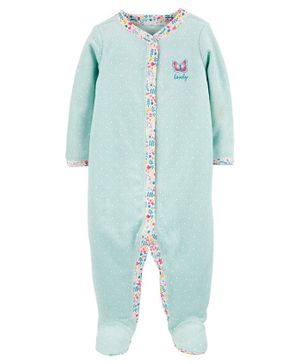 Carter's Butterfly Snap-Up Cotton Sleepsuit - Blue