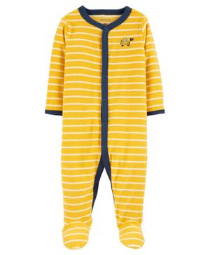 Carter's Construction Snap-Up Terry Sleepsuit - Yellow