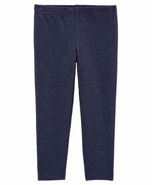 Carter's Knit Denim Leggings - Navy