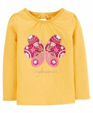 Carter's Butterfly Jersey Tee - Yellow