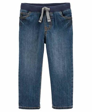 Carter's Pull-On Denim Pants - Blue