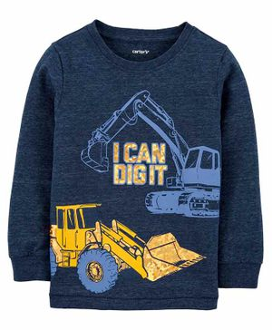 Carter's Construction Snow Yarn Tee - Blue