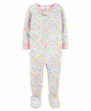 Carter's 1-Piece 100% Snug Fit Cotton Footie PJs - Pink