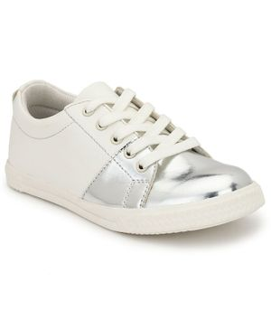 Tuskey Lace Up Dual Color Shoes - White