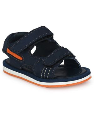 Tuskey Double Velcro Sandals - Navy Blue
