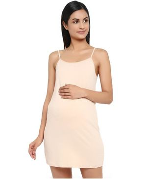 Wobbly Walk Solid Sleeveless Spaghetti - Cream