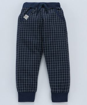 DEAR TO DAD Printed Full Length Lounge Pants - Navy Blue