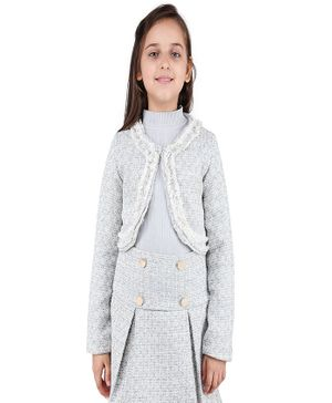 One Friday Full Sleeves Knitted Cardigan - Grey