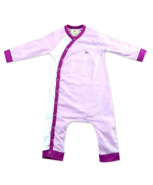 Cherry Crumble California Solid Full Sleeves Romper - Light Pink