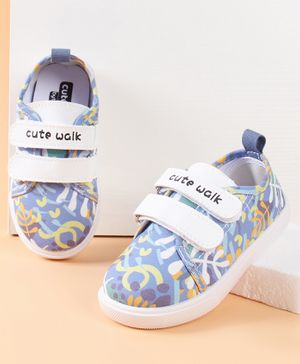 Cute Walk by Babyhug Printed Casual Shoes - Blue