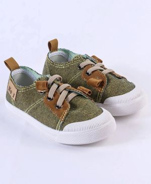 Cute Walk by Babyhug Casual Canvas Lace Up Shoes - Yellow Brown