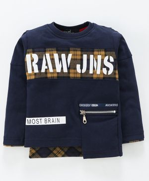 Tacos Full Sleeves Raw JNS Printed Tee - Navy Blue