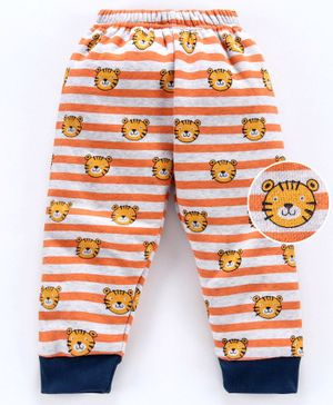 Mini Donuts Full Length Fleece Bottoms - Orange