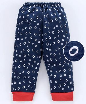 Mini Donuts Full Length Fleece Bottoms - Navy Blue