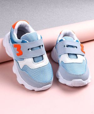 Cute Walk by Babyhug Solid Color Sport Shoes - Blue