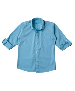 Kid Studio Long Sleeves Solid Button Down Shirt - Sky Blue