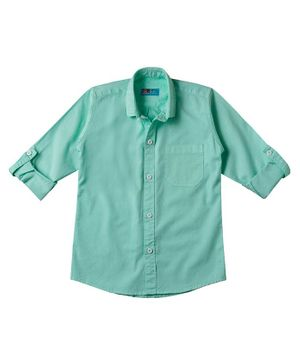 Kid Studio Long Sleeves Solid Button Down Shirt - Green