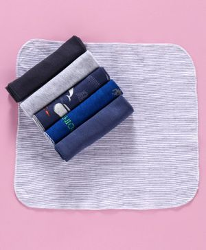 Ben Benny Hand & Face Towel Printed & Solid Color Pack of 6 - Multicolor