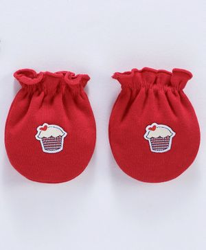 Ben Benny Mittens Cupcake Patch - Red