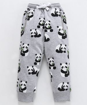 Ventra Full Length Panda Print Lounge Pants - Grey