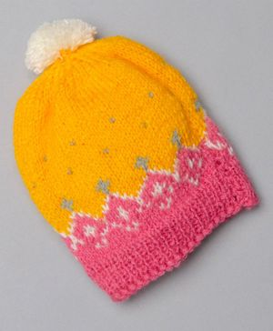 The Original Knit Colour Blocked Cap - Yellow