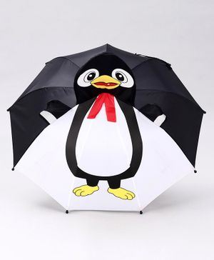 Babyhug Umbrella Penguin Print - Black
