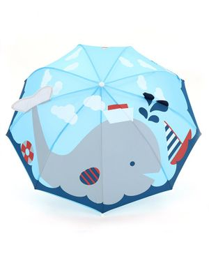 Babyhug Umbrella 3D Whale Design - Blue
