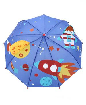 Babyhug Umbrella 3D Space Design - Blue