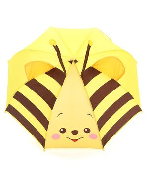 Babyhug Umbrella 3D Animal Design - Yellow Brown