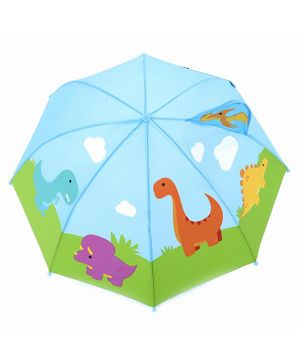 Babyhug Umbrella 3D Animal Design - Green Blue