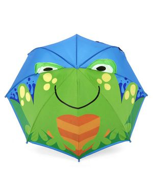 Babyhug Umbrella 3D Animal Design - Green