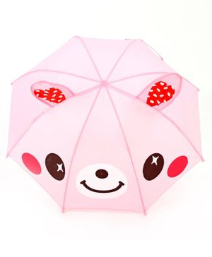 Babyhug Umbrella 3D Animal Design - Pink