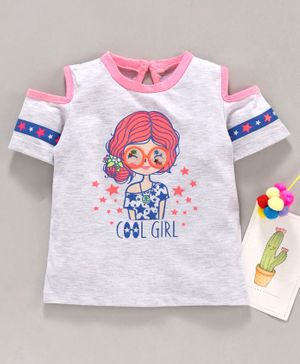 New Baby/'s Girl/'s Kid/'s Twin Pack Long Sleeve Cotton T-Shirt Top Age 1-2 Years